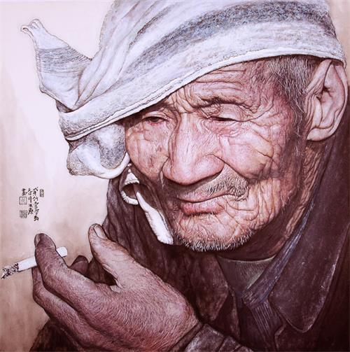 思考中的老人(68x68cm)_看图王.jpg
